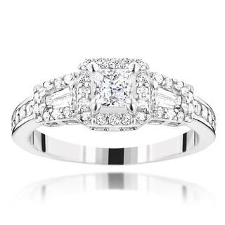 Luxurman 14K Gold 7/8ct TDW Diamond Unique Engagement Ring by Luxurman