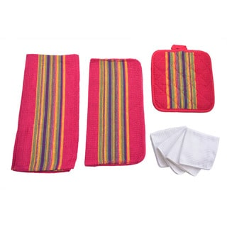 Home Basics Sierra 8-piece Kitchen Towel/Dish Towel/Pot Holder Set