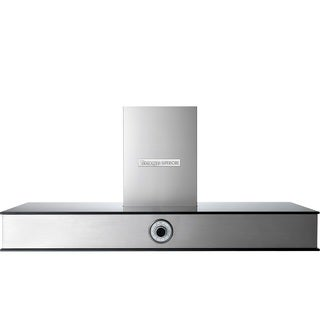 "Tecnogas Superiore Hood NEXT 48"" Analog Control Stainless steel with Black Glass Accents"