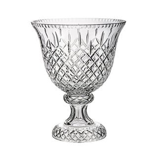 Majestic Gifts Hand-cut Crystal 12-inch Diameter Footed Bowl