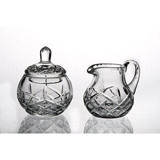Majestic Gifts Hand-Cut Crystal Sugar and Creamer Set