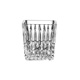 Majestic Gifts Clear Crystal Cotton Swab Holder