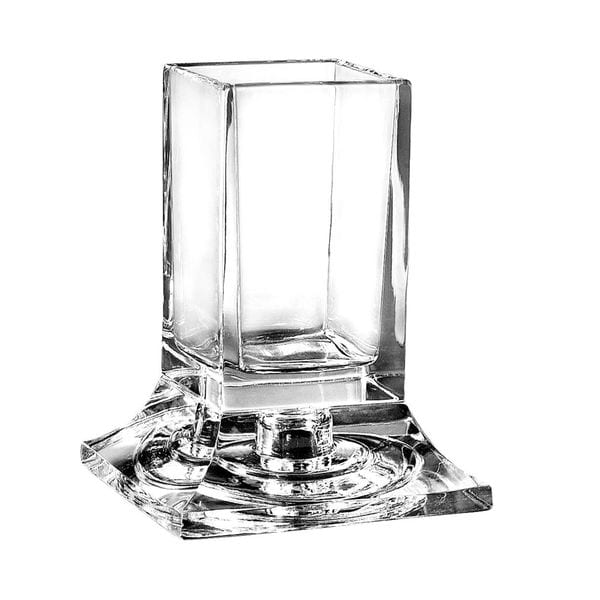 Majestic Gifts Square Clear Crystal Swab Holder