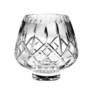 Majestic Gifts Plaza Hand Cut Crystal 4.5-inch Footed Rose Bowl