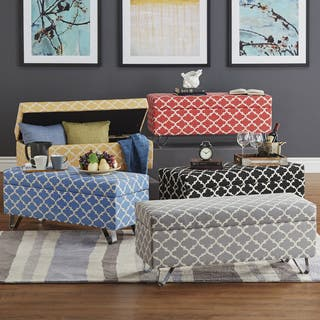 Tangier Moroccan Print Fabric Lift Top Storage Bench with Metal Legs by iNSPIRE Q Bold https://ak1.ostkcdn.com/images/products/13807265/P20456157.jpg?impolicy=medium