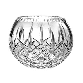 Majestic Gifts Clear Hand-cut Crystal 10-inch Diameter Rose Bowl