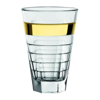 Majestic Gifts Quality Glass 14.5-ounce Highball Tumbler with Gold Band (Set of 6)