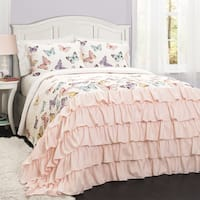 Lush Decor Flutter Butterfly 3-piece Quilt Set