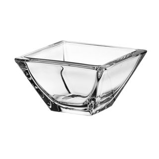 Majestic Gifts Clear Glass Square Bowl (Pack of 6)