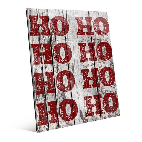 Santa's Laughter HO HO HO Acrylic Wall Art
