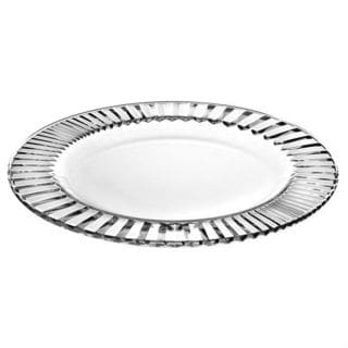 Majestic Gifts Diva Glass 8.6-inch Plate (Pack of 6)
