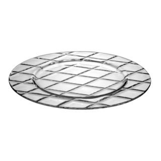 Majestic Gifts Clear Glass Plate (Pack of 6)