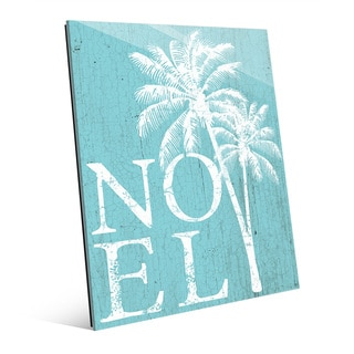 Noel Palms Tropical Snow Day Acrylic Wall Art