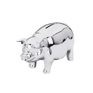 Reed and Barton Silvertone Metal Classic Piggy Bank