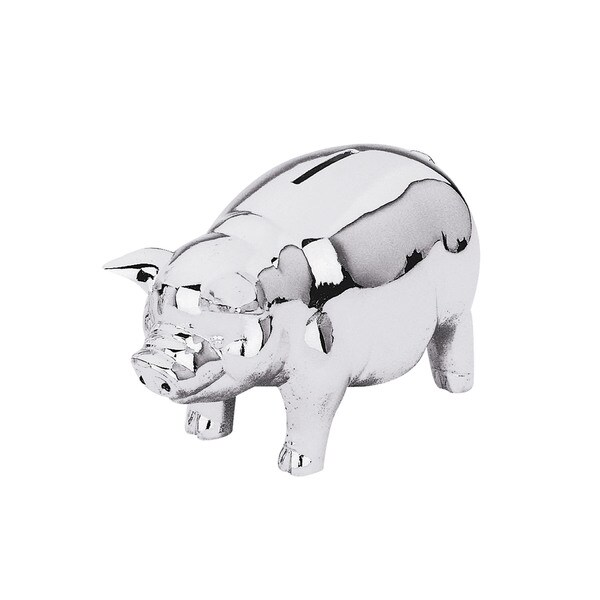 Reed and Barton Silvertone Metal Classic Piggy Bank