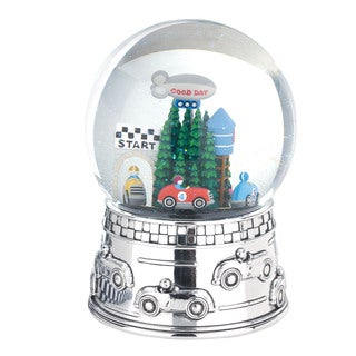 Reed and Barton Race Car Waterglobe