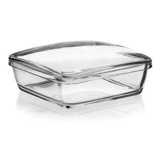 Majestic Gifts Fenice Glass 7-inch Covered Candy Dish