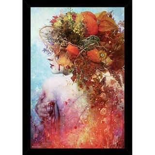 Mario Sanchez Nevado 'Compassion' 24-inch x 36-inch Print in Black Poster Frame