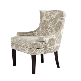 Madison Park Signature Flora Multi Cream/ Expresso Accent Chair