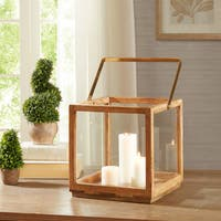 Madison Park Parker Natural Brass Accent Large Lantern