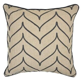 Kosas Home Foglio Gray 22-inch Throw Pillow