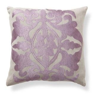 Kosas Home Crest Plum 18-inch Throw Pillow