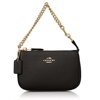 Coach Polished Pebble Nolita Black Clutch