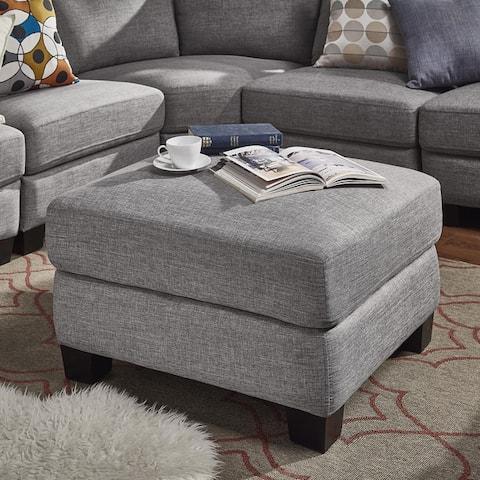 Elize Modern Linen Fabric Ottoman by iNSPIRE Q Bold