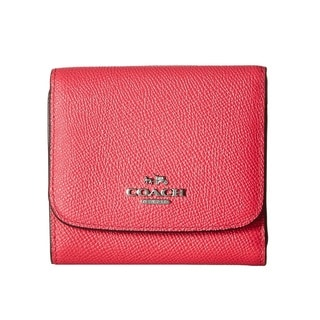 Coach Crossgrain Small Leather Amaranth Wallet