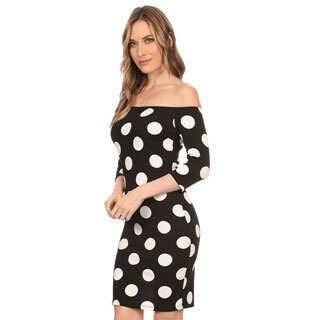 Women's Polka Dot Bodycon Dress