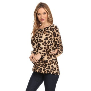 Women's Cheetah-Print Long-Sleeve Top