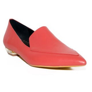 Lonia Libby Red Leather Flats