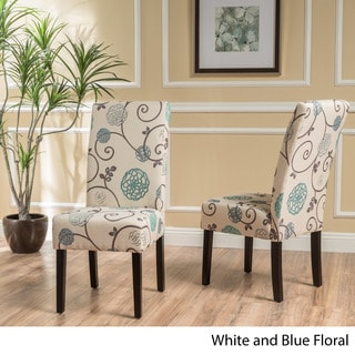T-stitch Floral Fabric Dining Chair (Set of 2) by Christopher Knight Home