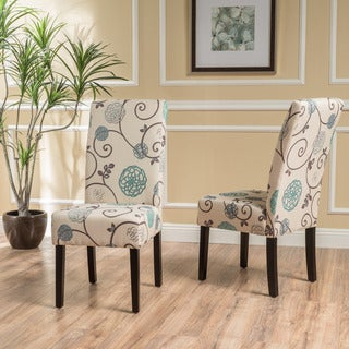 Link to T-stitch Floral Dining Chair (Set of 2) by Christopher Knight Home Similar Items in Dining Room & Bar Furniture