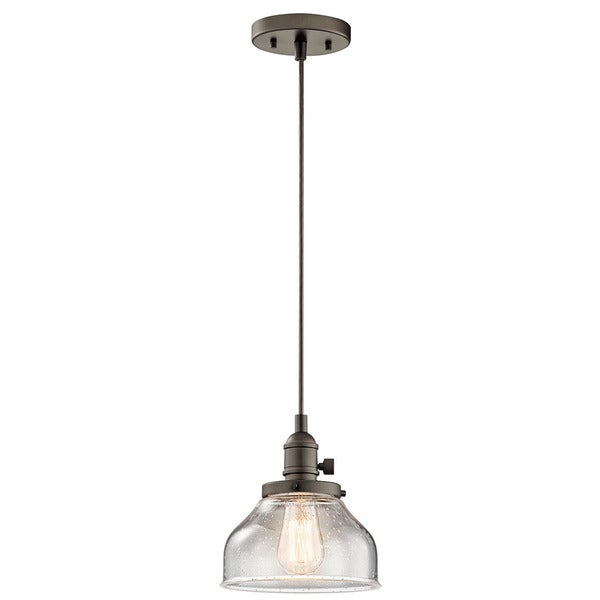 Shop kichler lighting avery collection 1 light olde bronze mini kichler lighting avery collection 1 light olde bronze mini pendant aloadofball Image collections