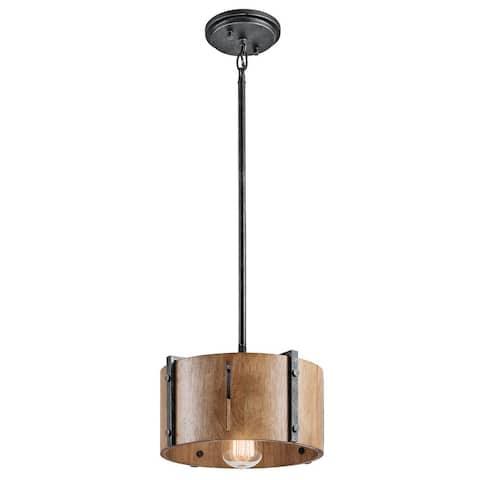 Kichler Lighting Elbur Collection 1-light Distressed Black Pendant/Semi Flush Mount