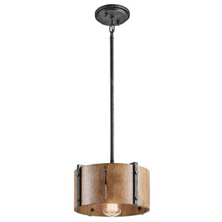 Kichler Lighting Elbur Collection 1-light Distressed Black Pendant/Semi Flush Mount