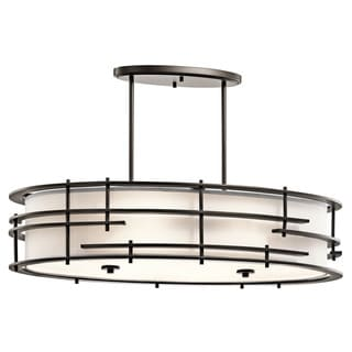 Kichler Lighting Tremba Collection 6-light Olde Bronze Oval Chandelier/Pendant