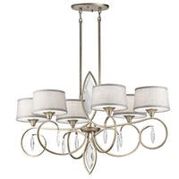 Kichler Lighting Casilda Collection 6-light Sterling Gold Oval Chandelier