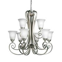 Kichler Lighting Willowmore Collection 9-light Brushed Nickel Chandelier