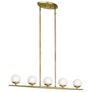 Kichler Lighting Jasper Collection 5-light Natural Brass Halogen Linear Chandelier