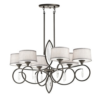 Kichler Lighting Casilda Collection 6-light Olde Bronze Oval Chandelier