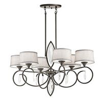 Kichler Lighting Casilda Collection 6-light Olde Bronze Oval Chandelier