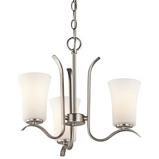 Kichler Lighting Armida Collection 3-light Brushed Nickel Mini Chandelier