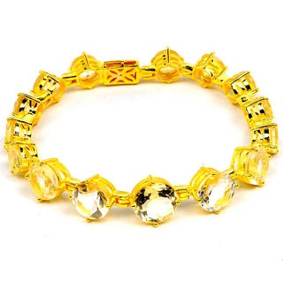 Orchid Jewelry 14k Yellow Gold Over Sterling Silver 24 1/4 Carat Citrine Bracelet