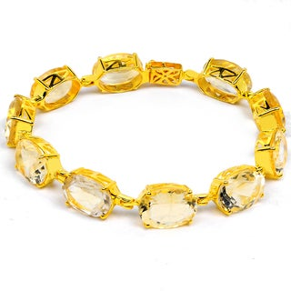 Orchid Jewelry 14k Yellow Gold Over Sterling Silver 54 3/5 Carat Citrine Bracelet