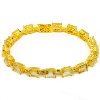 Orchid Jewelry 14k Yellow Gold Over Sterling Silver 15 1/5 Carat Citrine Bracelet