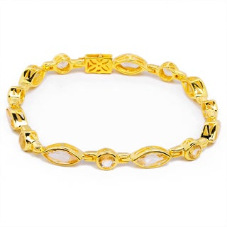 Orchid Jewelry 14k Yellow Gold Over Sterling Silver 14 1/3 Carat Citrine Bracelet