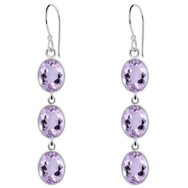 e3f85c908 10.0 Carat Amethyst 925 Sterling Silver Dangle Drop Earrings By Orchid  Jewelry