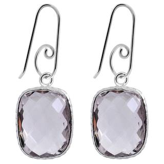 Orchid Jewelry 925 Sterling Silver 15 Carat Pink Amethyst Drop Earrings